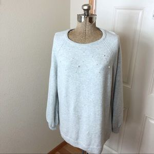 NWT Christopher & Banks Pearl Embellished Sweater